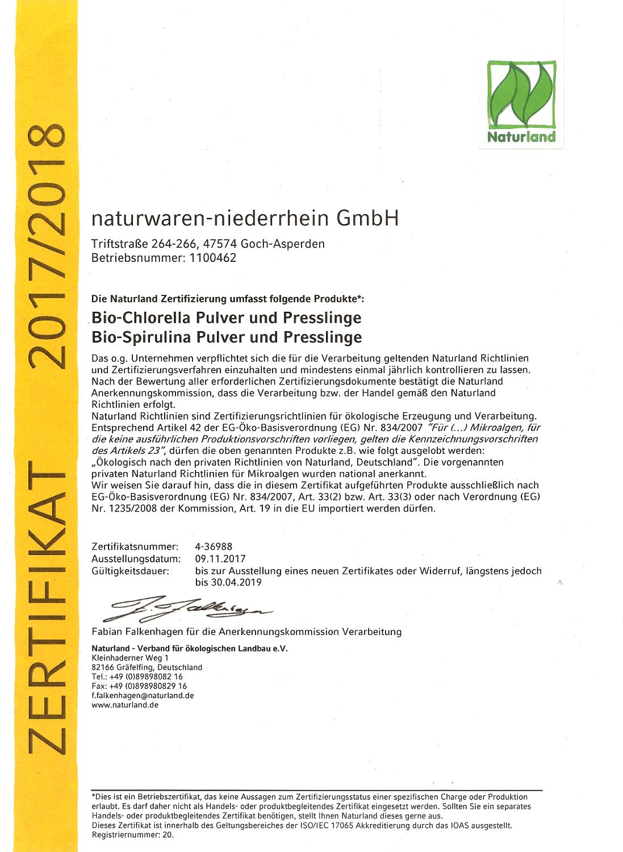 Naturland-Zertifikat